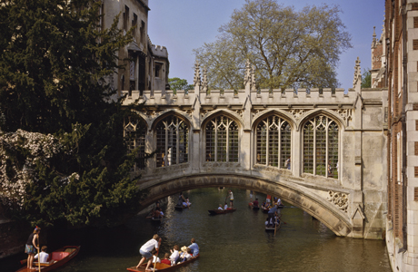 Bridge of Sighs over the River Cam at St. John's College, in Cambridge, England. (AP/Nigel Blythe/Robert Harding)
