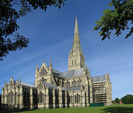 Salisbury Cathedral in Salisbury, England. (WIKI)