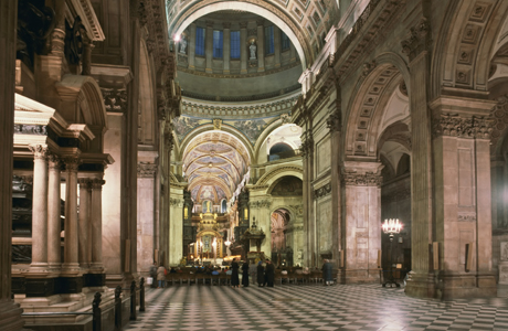 St. Paul's Cathedral INTERIOR. (Photo by: Nigel Blythe/Robert Harding /AP Images)
