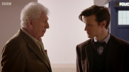 "Tom Baker and Matt Smith in ""The Day of the Doctor"""