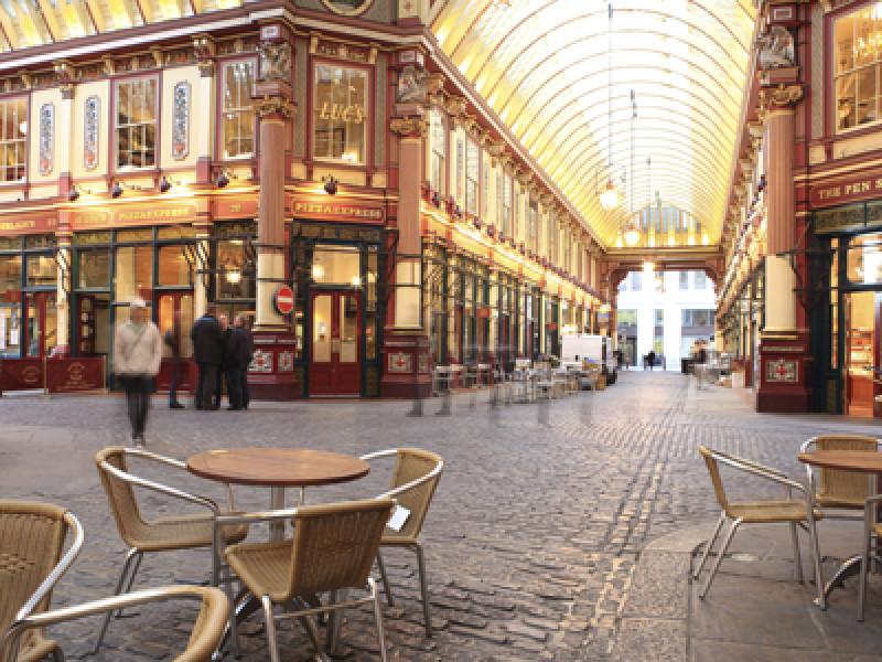 Leadenhall Market, City of London, London, England, United Kingd