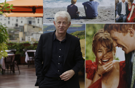 Richard Curtis stops for a moment in Rome, Italy while chatting up About Time. (AP)