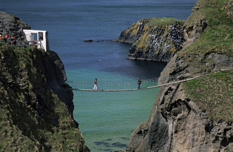 Carrick-A-Rede rope bridge, County Antrim, Northern Ireland,(AP/Roy Rainford/Robert Harding)