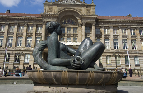 "This figure has been affectionately nicknamed ""Floozie in the Jacuzzi"", located in Birmingham, England. (Ethel Davis/Robert Harding /AP Images)"