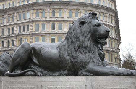 Statues, Lion, Trafalgar Square