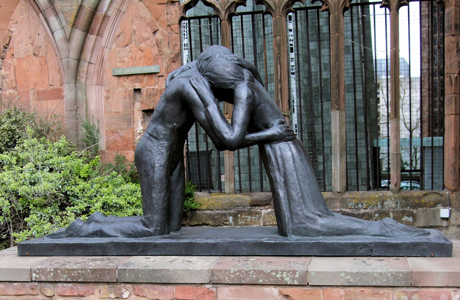 Reconciliation is a statue located in Belfast, Northern Ireland, depicting a man and woman being reunited post-war. (Wiki)