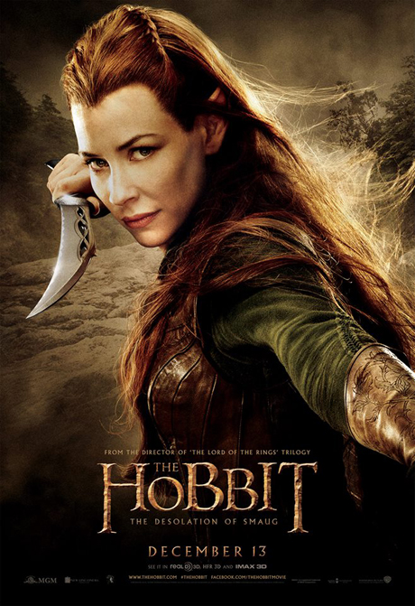 Evangeline Lilly as Tauriel. (MGM)