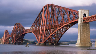 Forth railway bridge, Queensferry, Edinburgh, Lothian, Scotland,