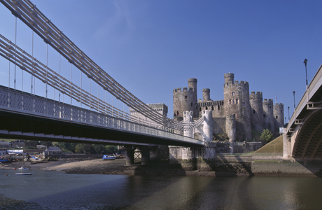 The Conwy Suspension Bridge, in Conwy, Wales, was built in 1824. (AP/Nigel Blythe/Robert Harding)