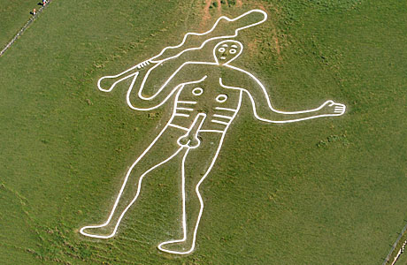 The Cerne Abbas Giant and his massive club