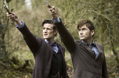 The Doctor and the Doctor in 'The Day of the Doctor'