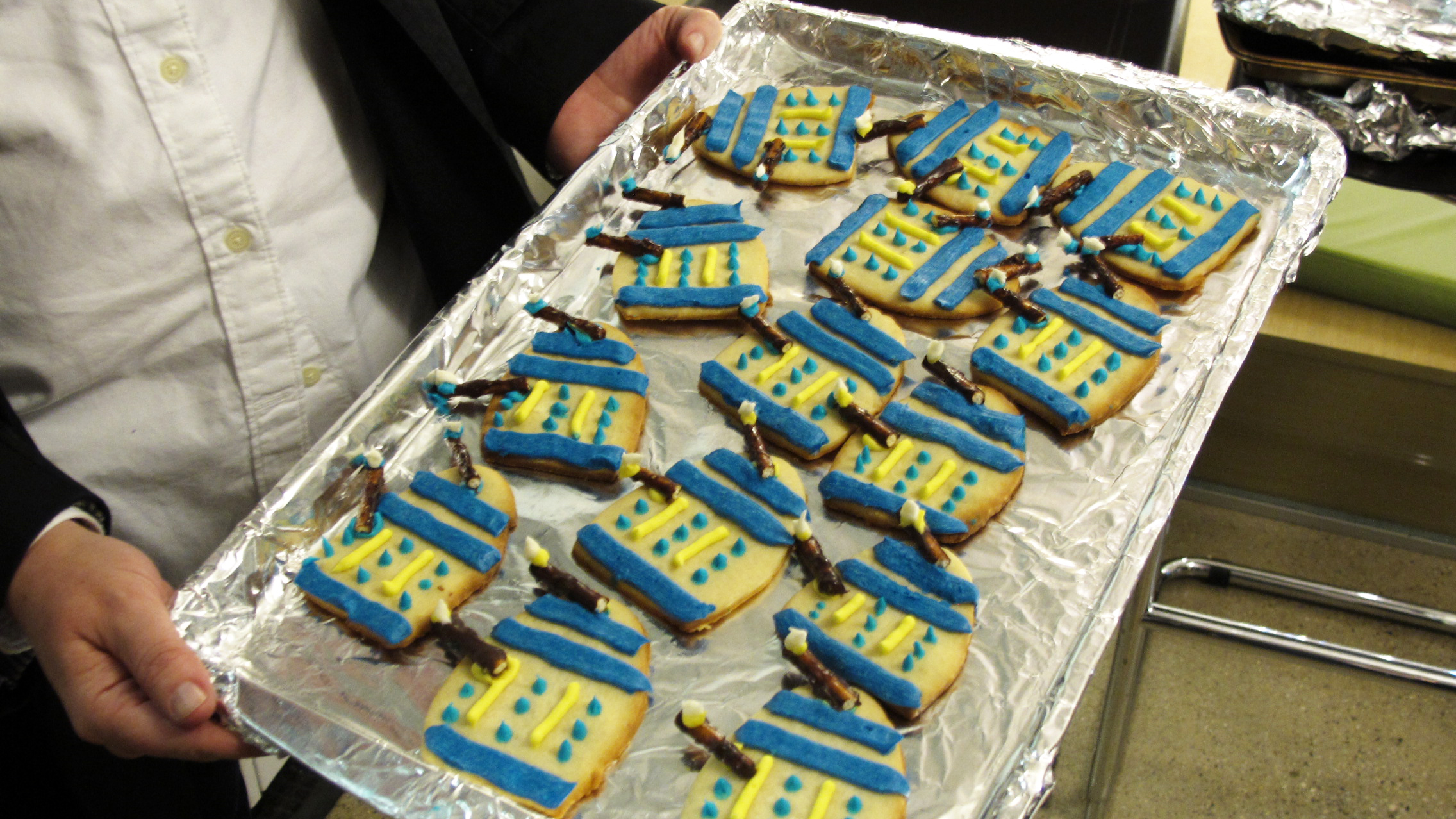 Dalek sugar cookies