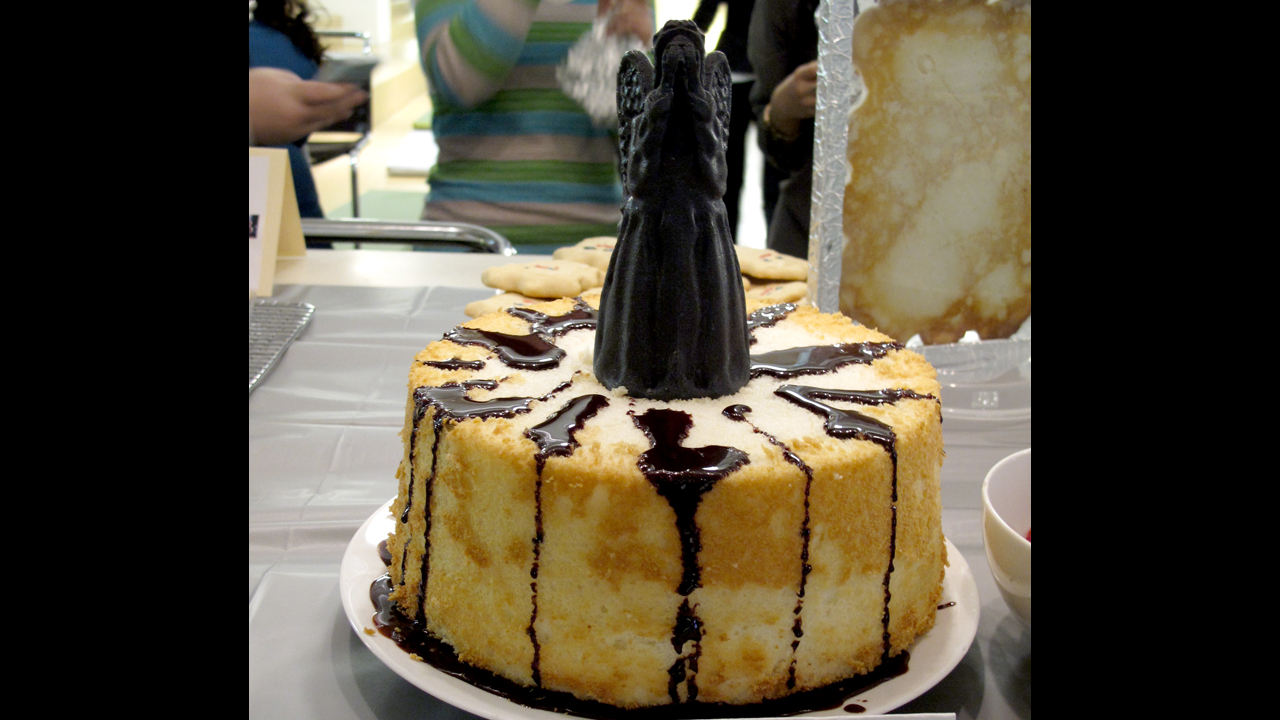 Weeping angel food cake