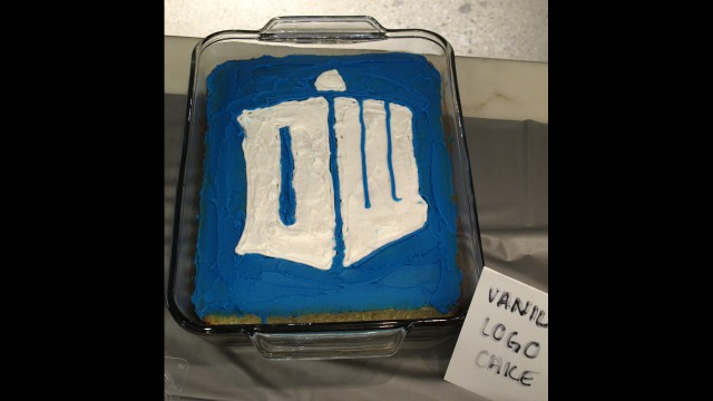 Doctor Who logo cake