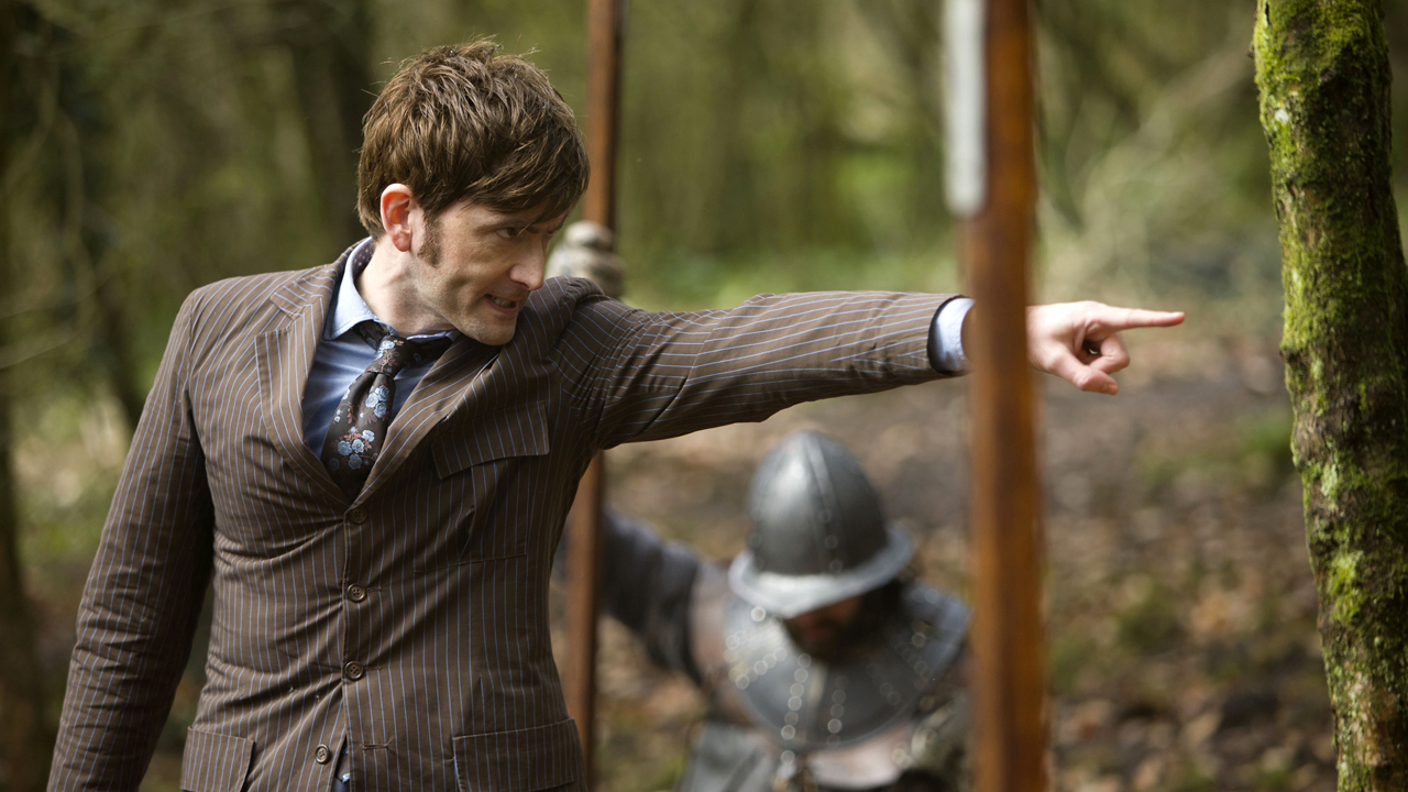 David Tennant as the Tenth Doctor.
