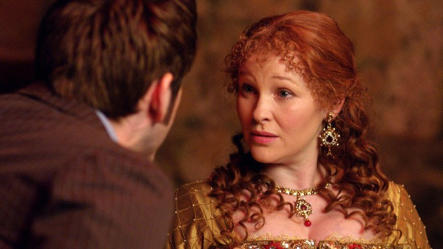 Joanna Page as Queen Elizabeth I.