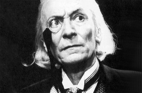The First Doctor and his monocle