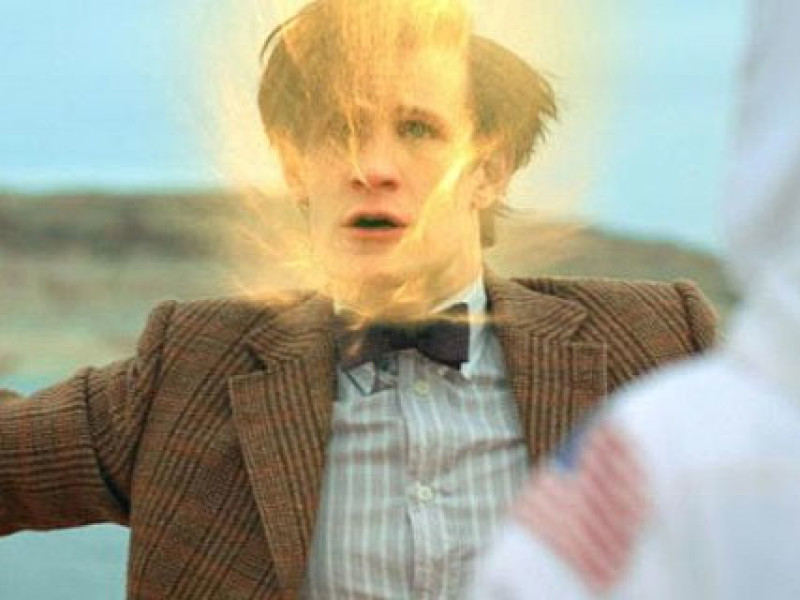The Eleventh Doctor regenerates