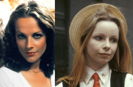 Mary Tamm (L) and Lalla Ward (R) as Romana