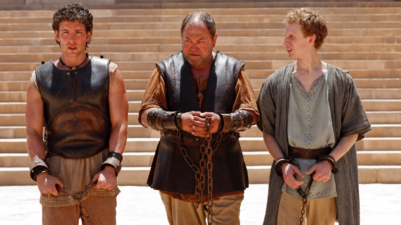 Hercules, Jason, and Pythagoras await their date with the bull court.