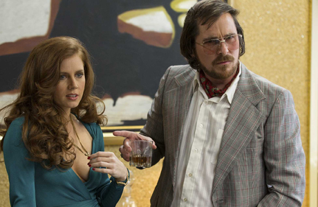 Christian Bale gets a frumpy makeover  in 'American Hustle' (Annapuma/Columbia)