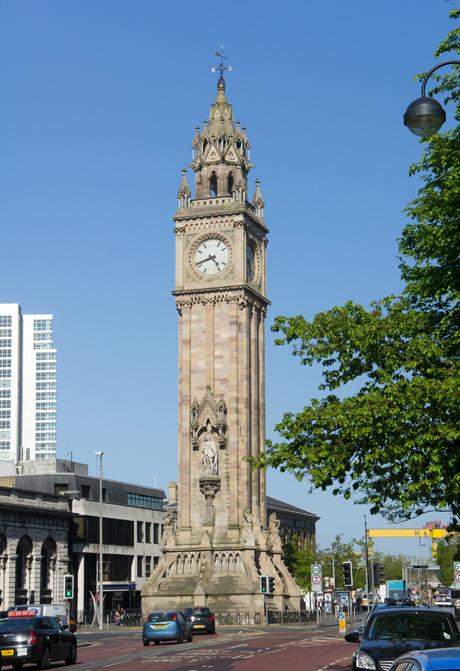 The Albert Clock in Belfast, Northern Ireland was installed in (WIKI)