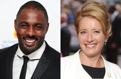 Idris Elba and Emma Thompson (Ian West/PA Wire)