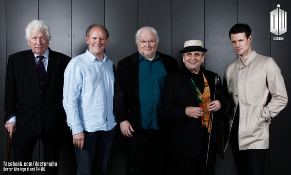Tom Baker, Peter Davison, Colin Baker, Sylvester McCoy, and Matt Smith celebrated the 50th anniversary together.