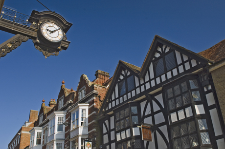 The Bracket Clock and timbered gables, High Street, Winchester, (ames Emmerson/Robert Harding /AP)