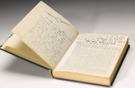 J.K. Rowling's handwritten Harry Potter notes go up for auction. (Sotheby's)