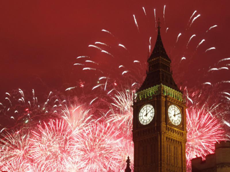 Britain New Years Day Celebrations
