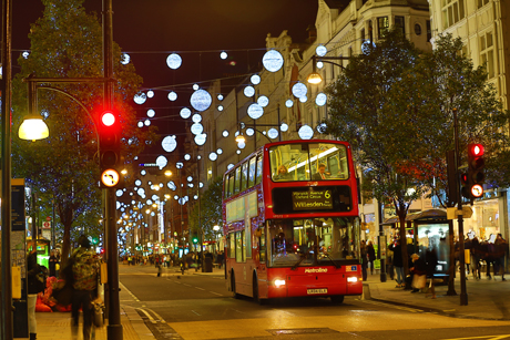 Oxford Street Christmas Lights and Xmas Decorations Oxford Street Christmas Lights, London, Britain - 12 Nov 2013  (Rex Features via AP Images)