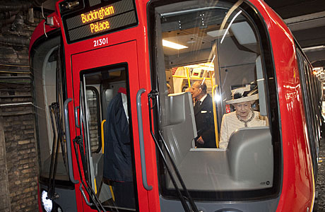 The Queen drives takes the Tube for a spin. (AP)