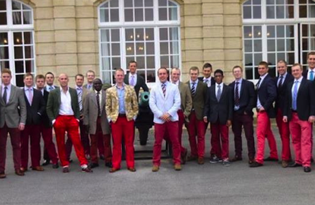 Survery reveals Britons have strong feelings about men in red trousers. ( LAMFRT)