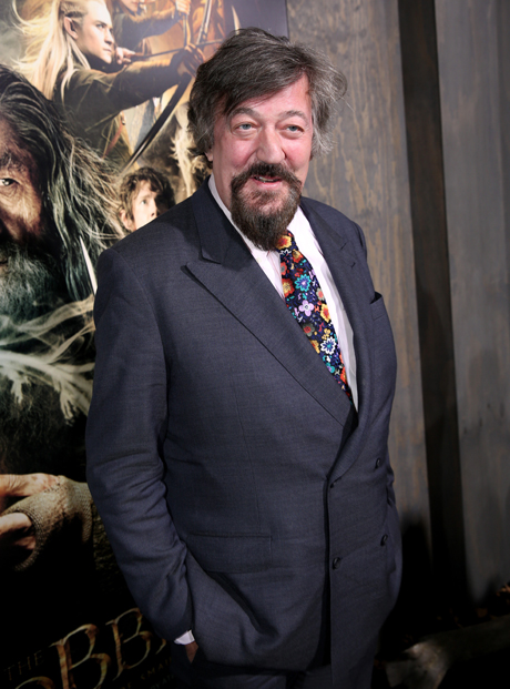 Did you know Stephen Fry is in The Hobbit, well you do now. He plays the Master of Laketown. (Matt Sayles/Invision/AP)