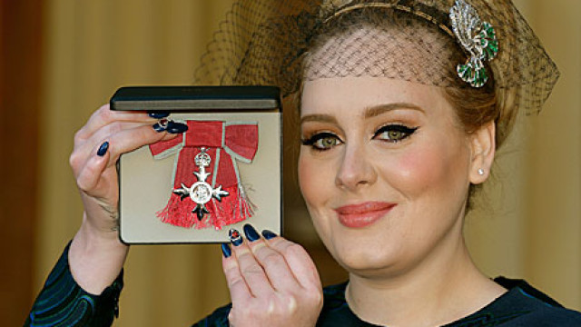 Adele gets her MBE