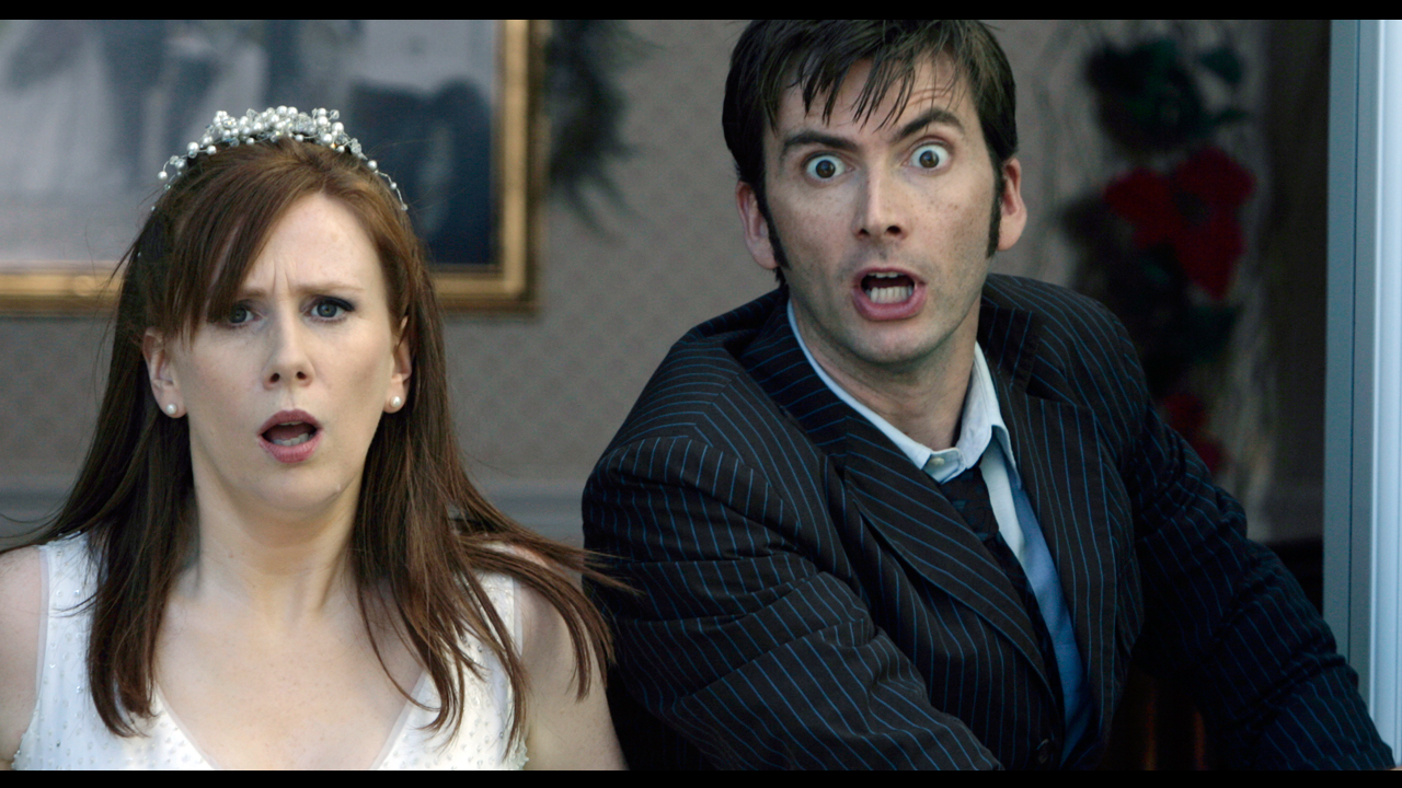 2006: THE RUNAWAY BRIDE What Happened? No sooner has The Doctor said a tear-stained farewell to Rose Tyler than he finds himself face-to-face with a woman, played by comedienne Catherine Tate, dressed in a fluffy white wedding frock. Who is she? Who is she supposed to be marrying? And how did she get on board the TARDIS?