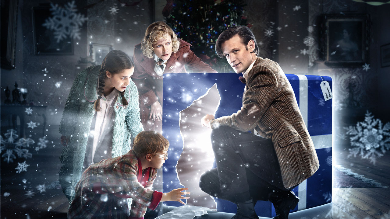 2011: THE DOCTOR, THE WIDOW AND THE WARDROBE What Happened? It's Christmas Eve, 1938, when Madge Arwell comes to the aid of an injured Spaceman Angel as she cycles home, in this year's Doctor Who Christmas Special, starring Matt Smith as the Doctor.  He promises to repay her kindness – all she has to do is make a wish.  Three years later, a devastated Madge escapes war-torn London with her two children for a dilapidated house in Dorset. She is crippled with grief at the news her husband has been lost over the channel, but determined to give Lily and Cyril the best Christmas ever.  The Arwells are surprised to be greeted by a madcap caretaker whose mysterious Christmas gift leads them into a magical wintry world. Here, Madge will learn how to be braver than she ever thought possible. And that wishes can come true…