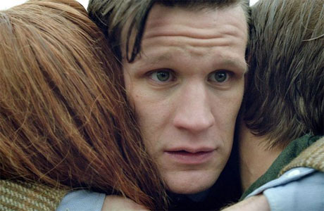 The Doctor, Amy and Rory, before... y'know...