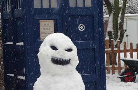 DW Snowmen began popping up in the U.K. (Facebook)