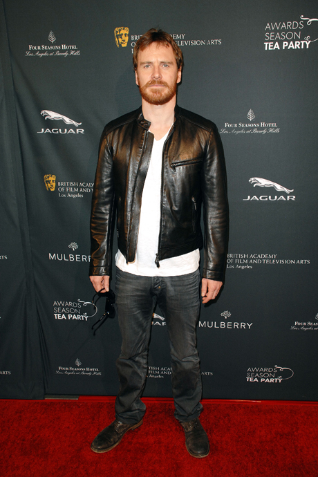 Michael Fassbender at the BAFTA Tea party in Los Angeles. (Photo: David Crotty/PatrickMcMullan.com via AP Images)