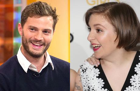 Does Girls creator and star Lena Dunham have her eye on British stud Jamie Dornan? (AP)