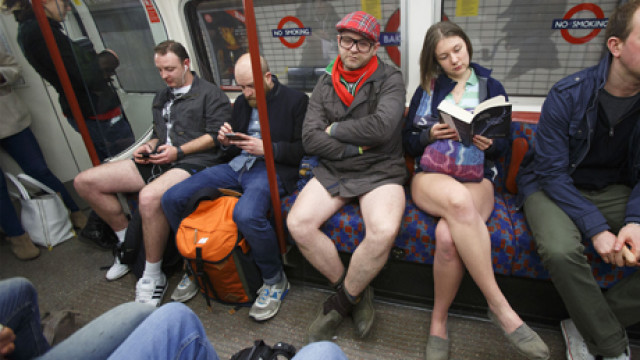 'No Pants Subway Ride Day', London, Britain – 12 Jan 2014