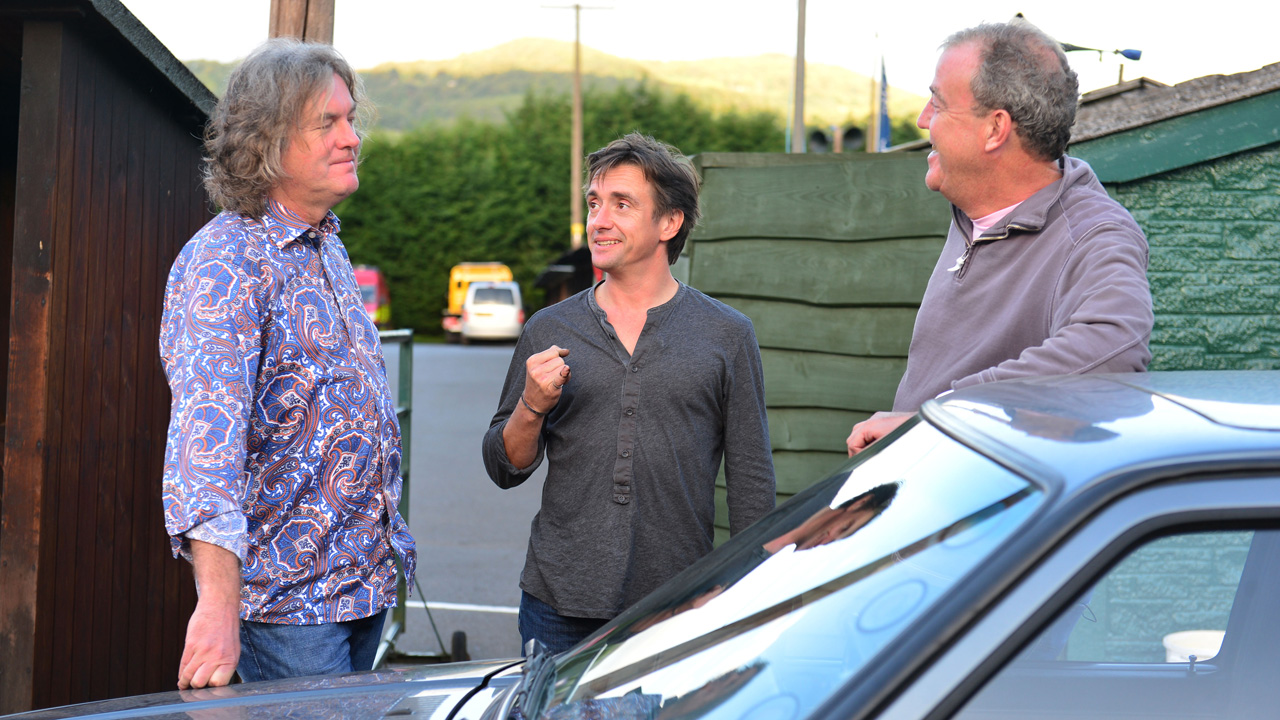 James May, Richard Hammond and Jeremy Clarkson at Shelsley Walsh Hill Climb.