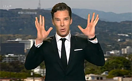 Benedict holds his hands up (pic: ITV)