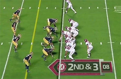 "Notre Dame (""a French team"") play Alabama"