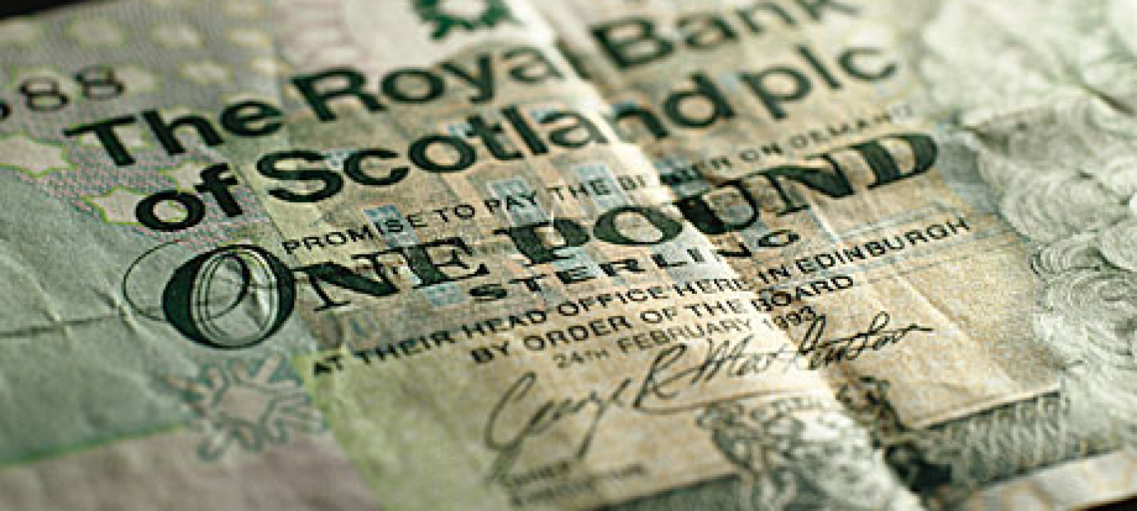 A Scottish pound note