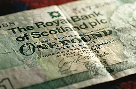 A Scottish pound note. Not free.