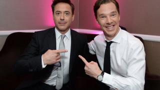 Robert Downey Junior and Benedict Cumberbatch
