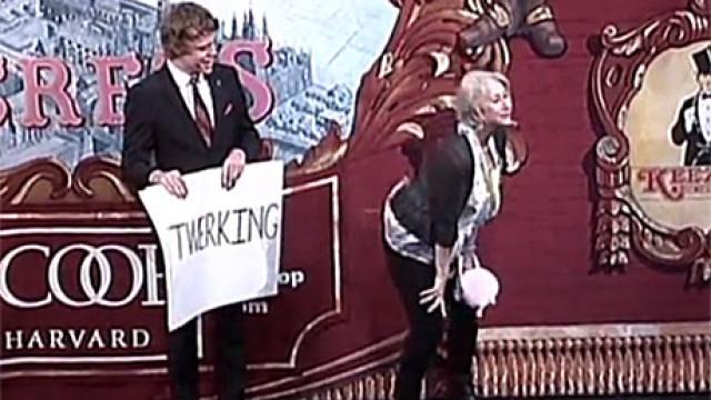 Dame Helen Mirren twerking